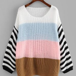 Never been worn stripe sweater